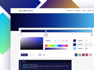 Side project launch: CSS Gradient 🎉 app web app gradient side project