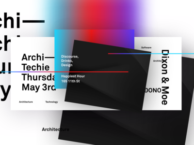 Architechie Happy Hour architecture typography poster
