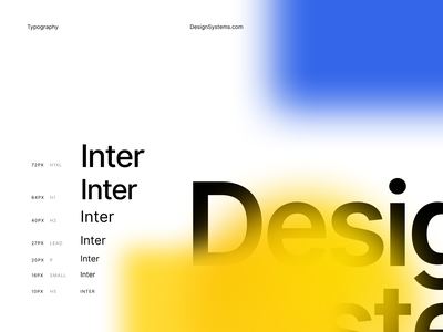 DesignSystems.com Typography website inter typography design systems