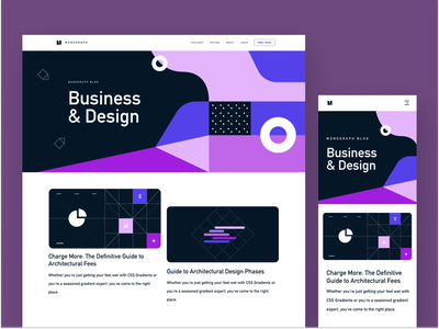 Monograph Blog Design hero blog design content article blog