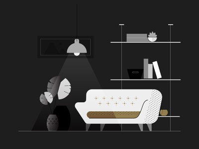 LuxDeco interior interior design home design illustration furniture
