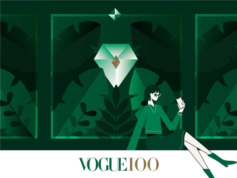 Voguing jungle diamond vector illustration vector art vogue design illustration