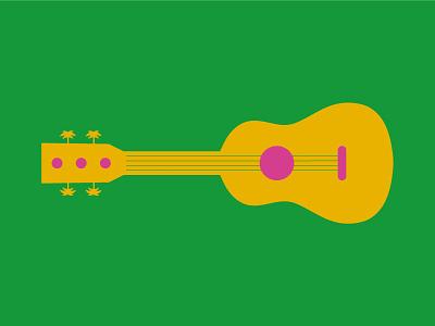 La Balera Sulle Mura | Tropical Guitar instrument summer tropical event concert music guitar illustration