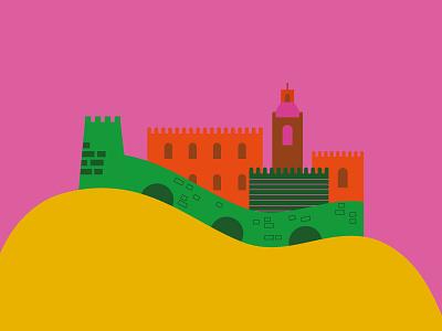 La Balera Sulle Mura | Piacenza wall building architecture piacenza italy city illustration