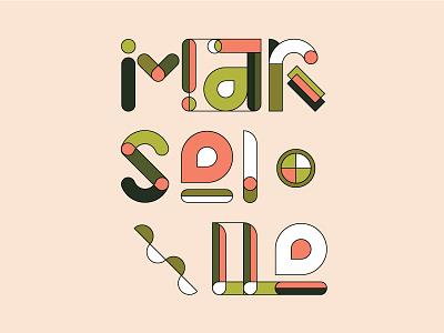 Marseille Type vector showusyourtype design graphic poster marseille city illustration typography