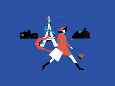 Paris fashion france paris travel vector design illustration
