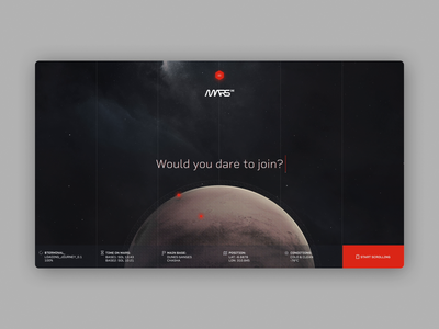 Mars One - Hello & Base Exploration web ux ui animation design motion design motion