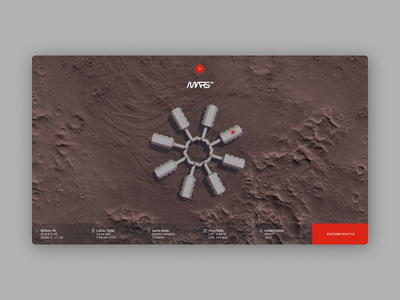 Mars One - Base and space shuttle exploration web ux ui animation design motion design motion