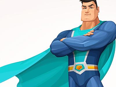 Superhero superhero illustration cartoon vector character