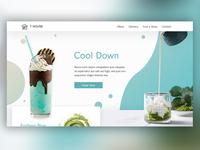 Website Mockup for a Tea Cafe