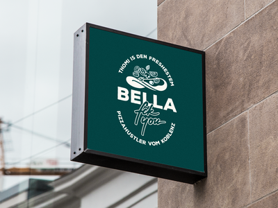 Bella fckyou. Branding, Website & Concept restaurant typography portfolio design illustration branding logo