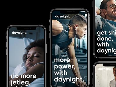daynight. Branding, Website & Concept packaging branding ux logo ui layout template design webdesign