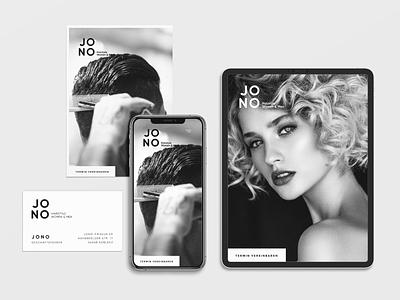 JONO. Branding, Website & Concept hairdresser ux branding logo ui template layout design webdesign