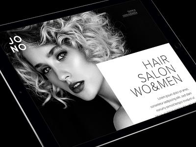 JONO. Branding, Website & Concept hairdresser branding ui logo template layout design webdesign