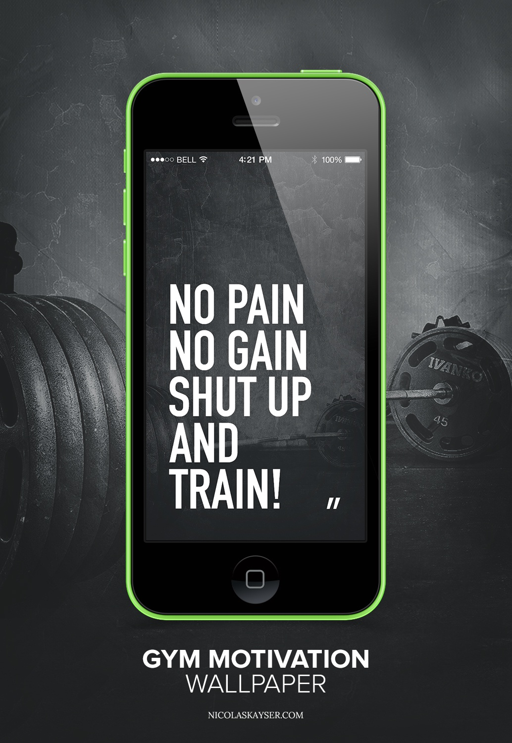 Mobile Motivation Wallpaper Mockup