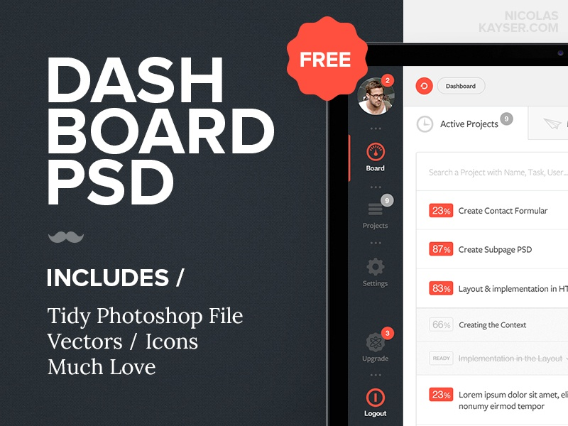 Dashborad PSD Freebie template psd freebie dashboard tool admin projects ui