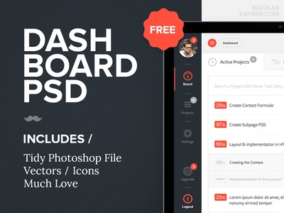 Dashborad PSD Freebie