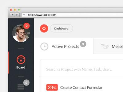 Dashboard dashboard tool admin projects taspire