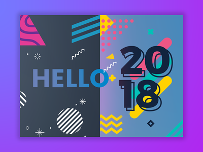 GREETINGS 2018 abstract shots gradients shots new year shot happy new year welcome