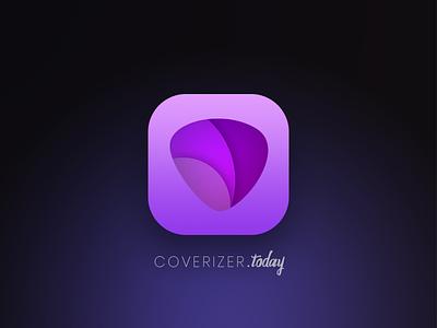 Coverizer App Icon app logo cover platform music covers srilankan app logo coverizer