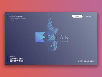 Design Engine Logo showcase design polygon shape design initiative design logo startup design surf edge design engine sri lanka design engine