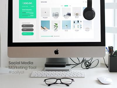 Home - Social Media Marketing Tool seo marketing seo minimal ui design minimal ui flat ui social ui social media desing home ui dashboard tool social media marketing social media