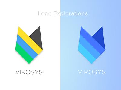 Logo Explorations for VIROSYS daily ui logo design user chapters sri lanka user chapters virosys logo virosys usa virosys security evangelist security logo seo logo