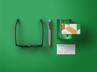 Business card Design ( Earltech ) earl tech startup branding logo businesscarddesign businesscard