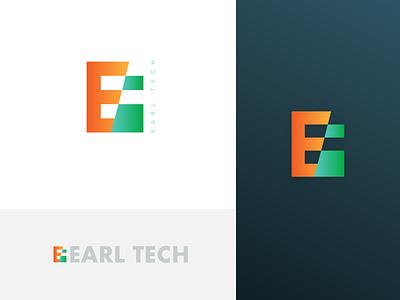 Earl Tech Startup Logo user chapters flat logo earltech startup logo sri lanka minimal branding logo design logotype