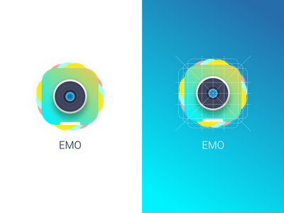 EMO Logo Explorations gallery emotions app design logo design logo