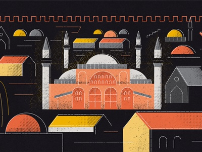 Hagia Sophia, Istanbul hagia sophia istanbul adobe photoshop illustrator motion graphic artwork art illustration