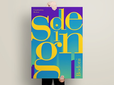 Bodoni Poster serif bodoni typography type print poster graphic design