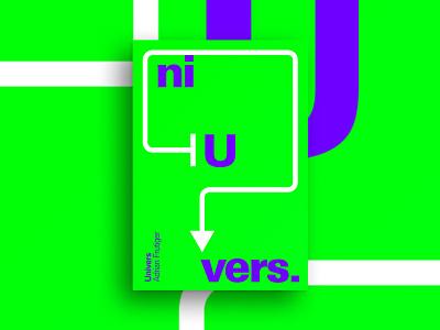 Univers univers frutiger adrian typography minimal print design poster
