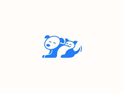 Veterinary Clinic Logo v.02 veterinary dog cat vector logo geometric design branding