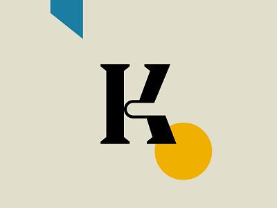 K Letter Design serif typeface serif artwork typography design graphic design typography letter