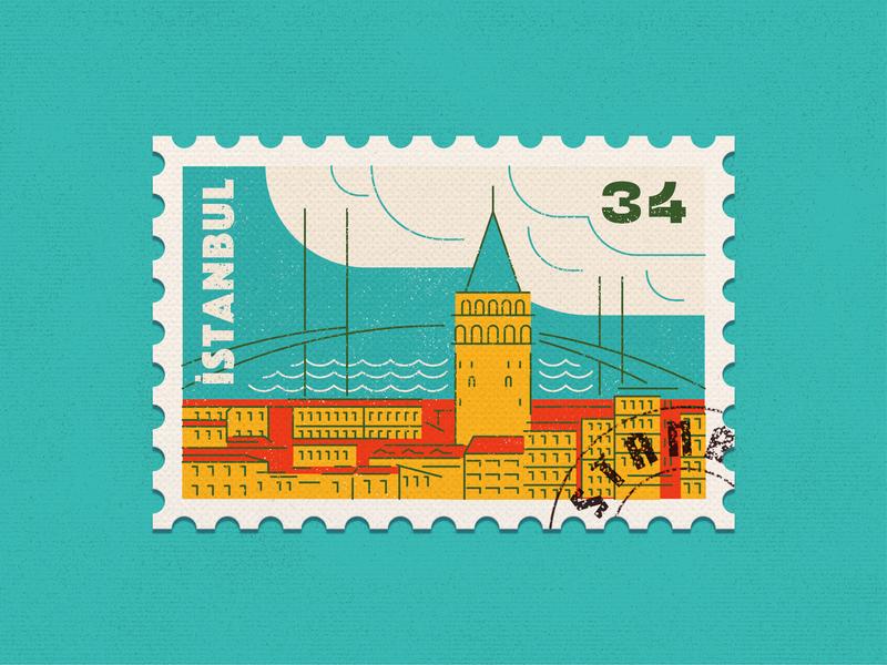 Istanbul Stamp photoshop illustrator rebound weekly challenge weekly warm-up artwork line art illustration graphic design stamp istanbul