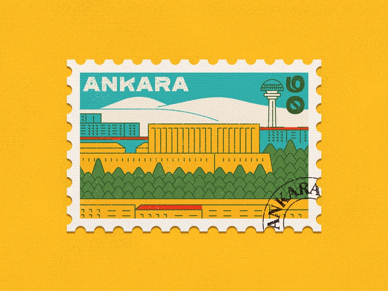 Ankara Stamp rebound dribbble photoshop illustrator weekly challenge weekly warm-up artwork lineart colorful stamp design stamp graphic design ankara