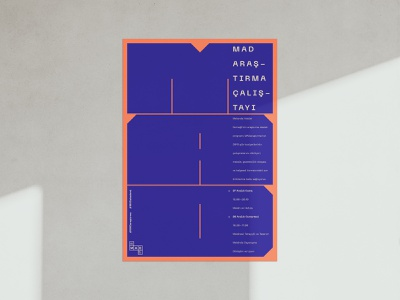 Mad Poster v.02 graphicdesign vector type geometric poster print graphic typography minimal design basic artwork