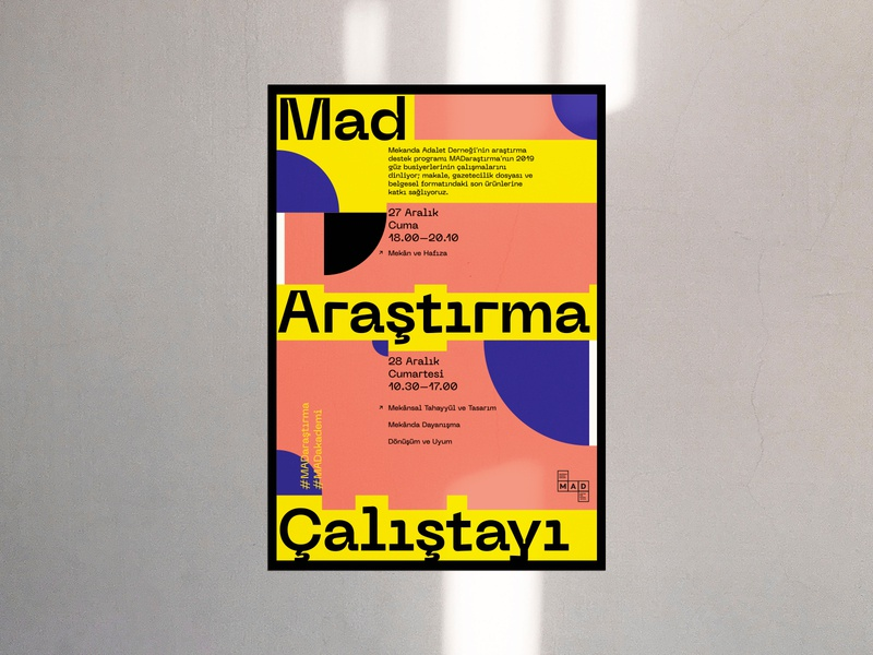 Mad Poster v.03 artwork basic type geometric minimal poster graphic print typography design