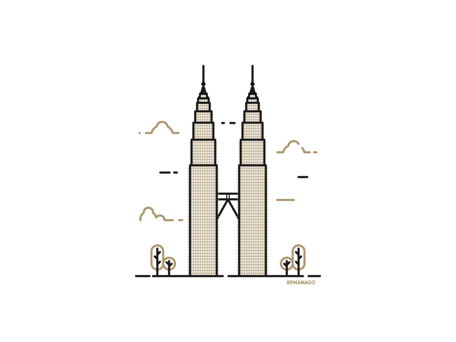 Kuala Lumpur Malaysia Petronas Twin Towers By Rosemarie Manago On Dribbble