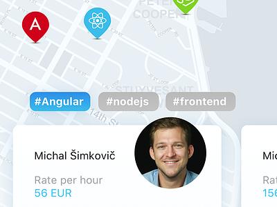 Jobsl / Online platform hiring clean angular dailyux ux ui ios apps mobile