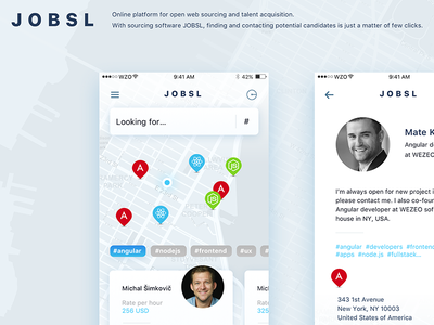 Jobsl / Online platform dailyux development android ios apps ui ux mobile code developers hiring job