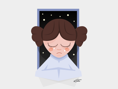 Rest In Peace Princess Leia illustration rip leila starwars