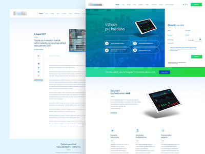 """Trade with """"$@3RT#"""" green blue form ux ui design draft simple app trade stock web"""