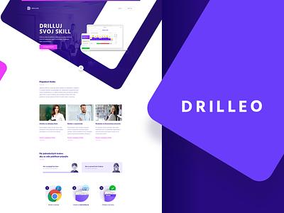 DRILLEO animation page single presentation ui ux drill skill web