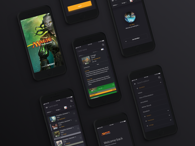 Magic The Gathering / mobile app promo cards magic ios andoid sketch angular ionic ui ux app