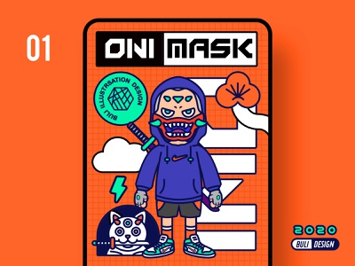 ONI MASK 01 illustration