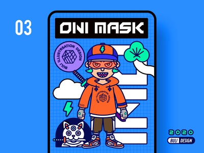 ONI MASK 03 illustration