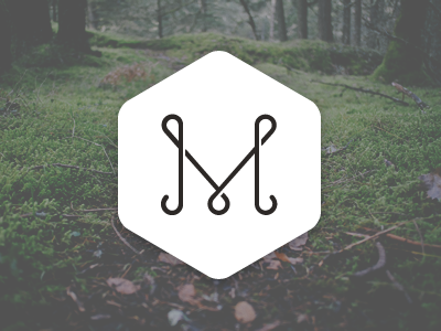 M monogram monogram mark logo curly