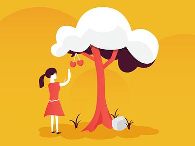 Cherry picking flat illustration blog nicereply cherry
